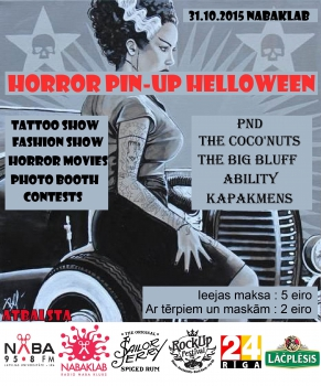 """Horror Pin-up"" masku balle"